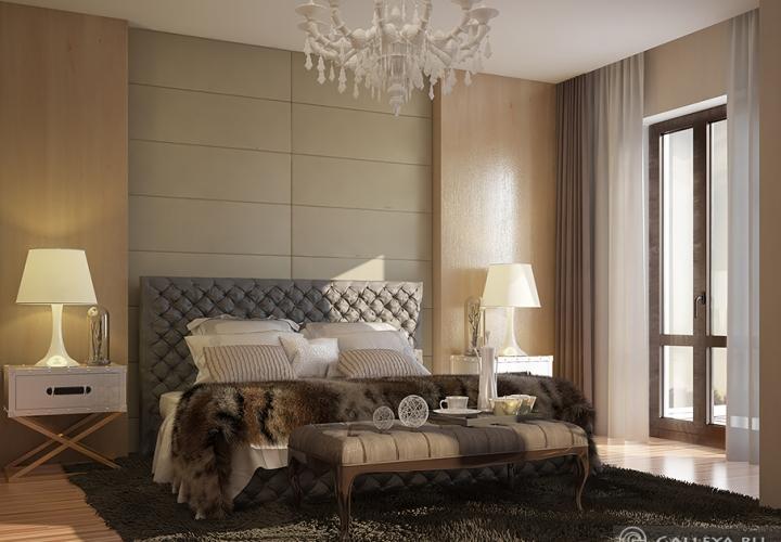 Дизайн и 3D визуализация спальни